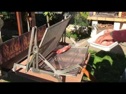 Griglia girevole per barbecue pozzoleone youtube for Griglia per barbecue bricoman