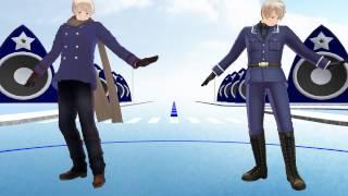 [MMD - Hetalia] Russia and Prussia - Elektrika