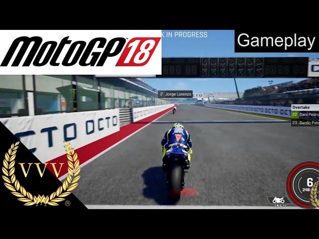 MotoGP 18 Valentino Rossi Gameplay