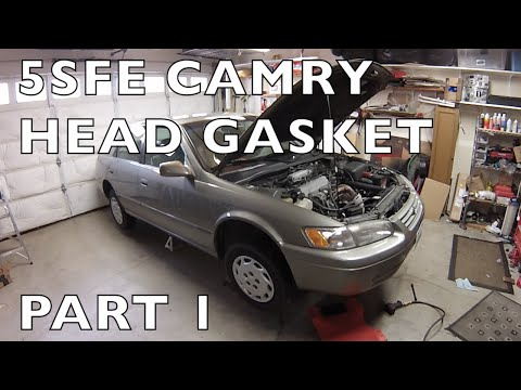 How to Replace Head Gasket 1997-2001 Toyota Camry  5S-FE Part 1