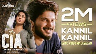 Kannil Kannil Song Lyric Video HD Comrade In America ( CIA ) | Gopi Sundar, Dulquer Salmaan