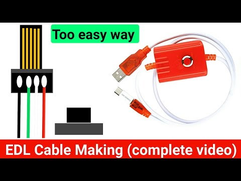 How to make a EDL Cabel/Qualcomm/Xiaomi/MTK/SPD connecting