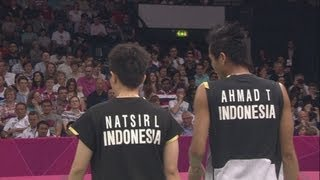 Ahmad & Natsir (INA) Win Mixed Doubles Badminton Quarter-Final - London 2012 Olympics