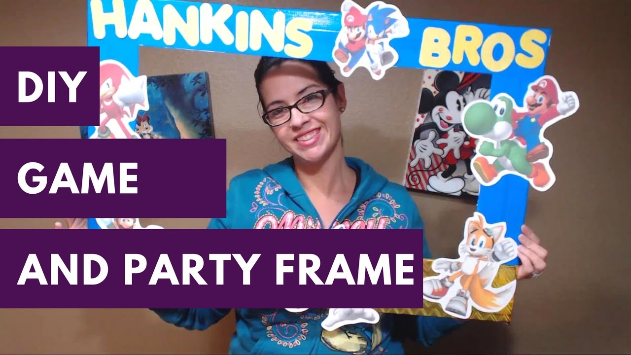 Birthday Party Selfie Frame and Game DIY - YouTube