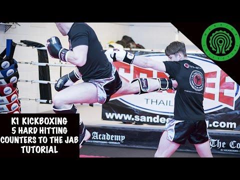 K1 Kickboxing 5 Hard Hitting Counters to the Jab Tutorial