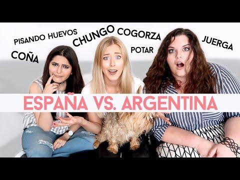 ARGENTINA vs ESPAÑA - Adivinando Expresiones Españolas !!