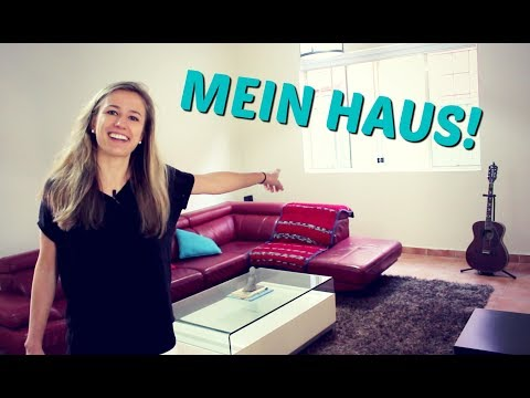 My new house! Learn German Vocabulary of Furniture and Rooms!