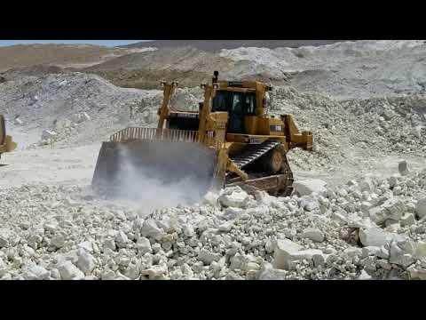 CAT D10R Pushing Rocks