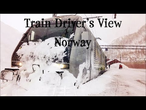 Train Driver's View: Winter on the Flåm Line