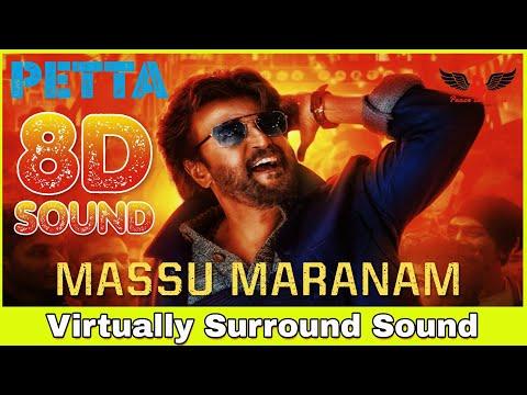 Massu Marana | 8D Audio Song | Petta [Telugu] | Rajinikanth, Vijay Sethupathi | Anirudh Ravichander