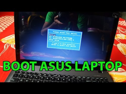 How To Boot Asus F550 Laptop From Bootable USB Drive To Install Windows 7/8/10