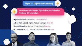 Pembukaan Sriwijaya Digital Festival & Panel Digital Transformation