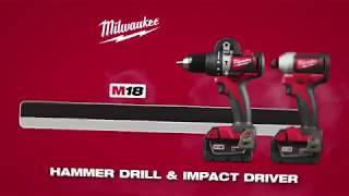 Мощный шуруповерт&винтоверт Milwaukee® M18™ и М18 аккум 12 Ач