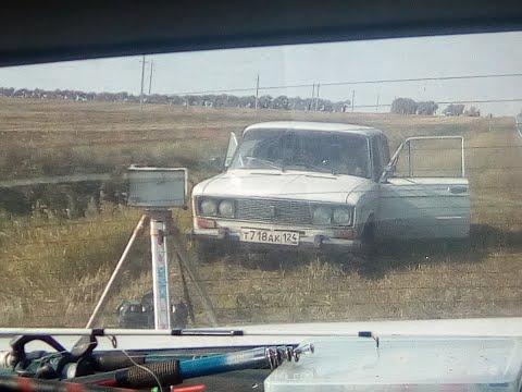 На трассе Ужур Златоруновск Козёл стрижёт Бабло  Не законно установлена тренога Фотовидеофиксации