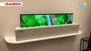 CES 2018 - Il TV avvolgibile di LG in funzione!