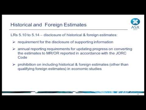 Are You Ready for JORC 2012 - 04 ASX Listing Rules