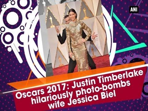 Oscars 2017: Justin Timberlake hilariously photo-bombs wife Jessica Biel  - ANI #News