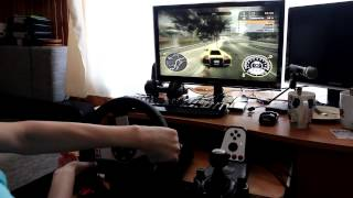 Need for Speed Most Wanted (2005) with Logitech G27