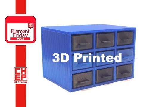 3D Printed Hardware Storage Drawer Cabinet