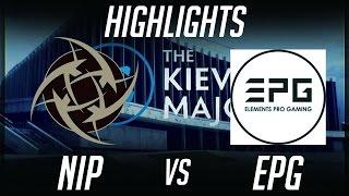 NiP vs EPG Kiev Major 2017 EU Highlights Dota 2