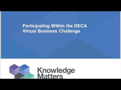 2016 Virtual Business Challenge Curriculum Integration