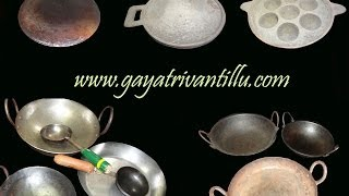Seasoning of Cast Iron Griddle - Indian Andhra Telugu Recipes