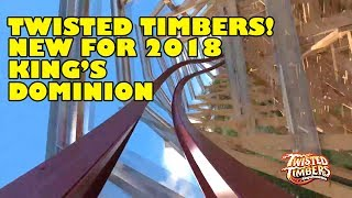 Twisted Timbers Roller Coaster Front Seat POV New for 2018 Kings Dominion
