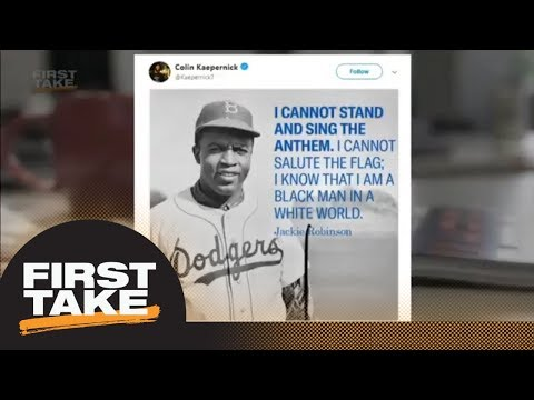 Stephen A. will 'not tolerate' Colin Kaepernick-Jackie Robinson comparison | First Take | ESPN