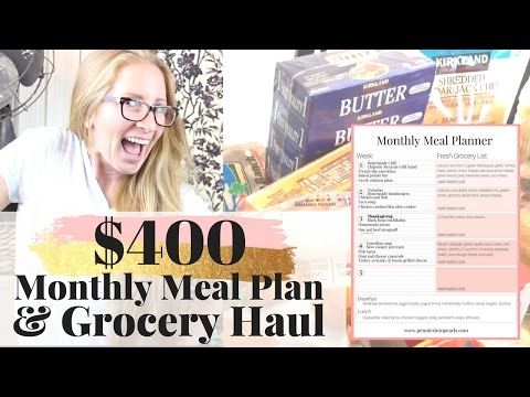 Meal Plan With Me & Grocery Haul | $400 Monthly Budget