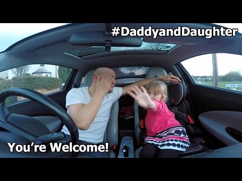 #DaddyandDaughter Youre Welcome  Dwayne Johnson Car Singalong Duet!