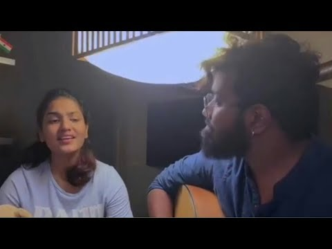 saniya iyappan singing pavizha mazhaye song from athiran movie