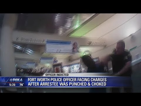 Fort Worth officer indicted for slugging man in hospital lobby