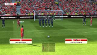PES 2014 - Liverpool vs Manchester United Gameplay PC