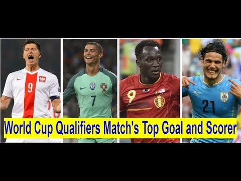 Top 10 Goal Scorers in 2018 FIFA World Cup Qualifiers Matchs/Top 10 World Cup Goal scorers.