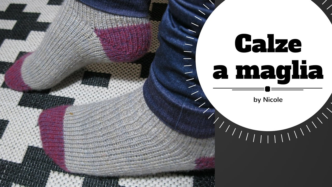 Calze a maglia tutorial   Knitting toe up socks - YouTube 404f19685a6d