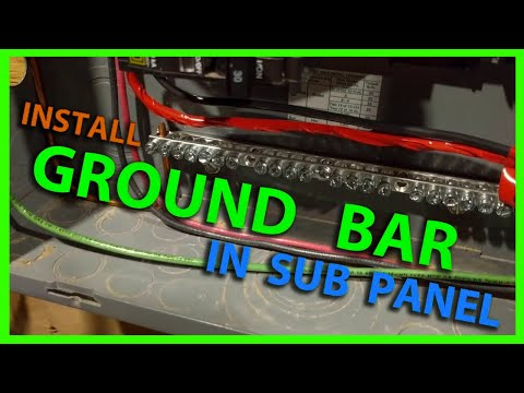 how to install a ground bar in a sub panel or main load center youtube