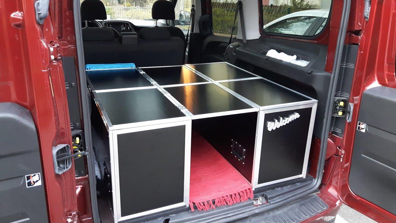 ausbau hochdachkombi auto zum minicamper umbau wohnmobil fiat doblo maxi xl campervan. Black Bedroom Furniture Sets. Home Design Ideas