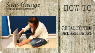 Regalsystem | Regal selber bauen | Upcycling | DIY | Möbel | How to |  by Saris Garage