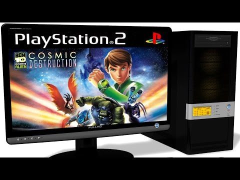 PCSX2 1.5.0 PS2 Emulator - Ben 10 Ultimate Alien: Cosmic Destruction (2010). Gameplay. Test #1