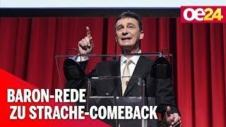 Polit-Comeback von Strache: Rede von Baron