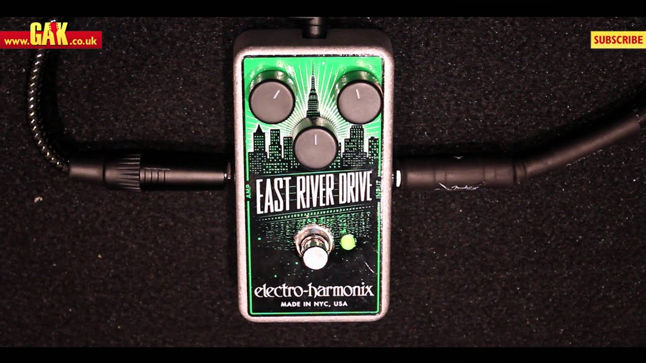electro harmonix east river drive overdrive pedal demo at gak youtube. Black Bedroom Furniture Sets. Home Design Ideas