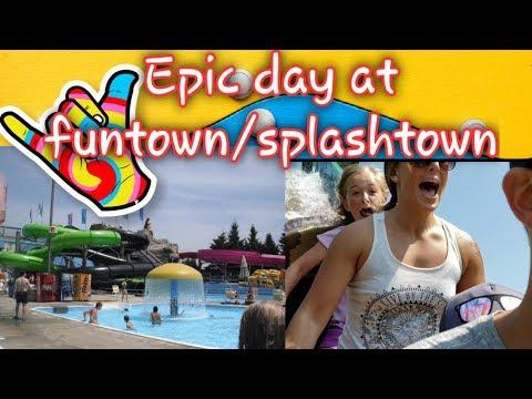 (Funtown/Splashtown)! Water Slides And Awesome Rides!