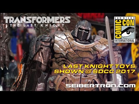 NEW Transformers The Last Knight toy products from Hasbro shown at SDCC 2017