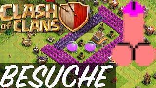 Clash of Clans - BESUCHE UND PENIS?! || Let's Play COC [Deutsch/German]
