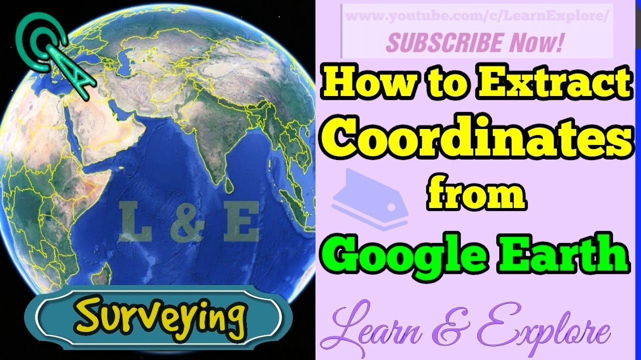 Extract Coordinates (Lat/Long) from Google Earth Pro | then export to UTM