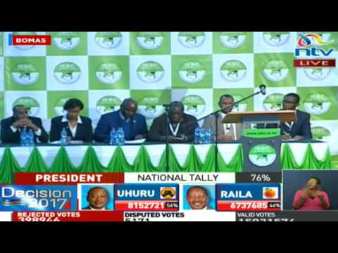 IEBC will only declare the result of the Presidential election according to the law - Chebukati
