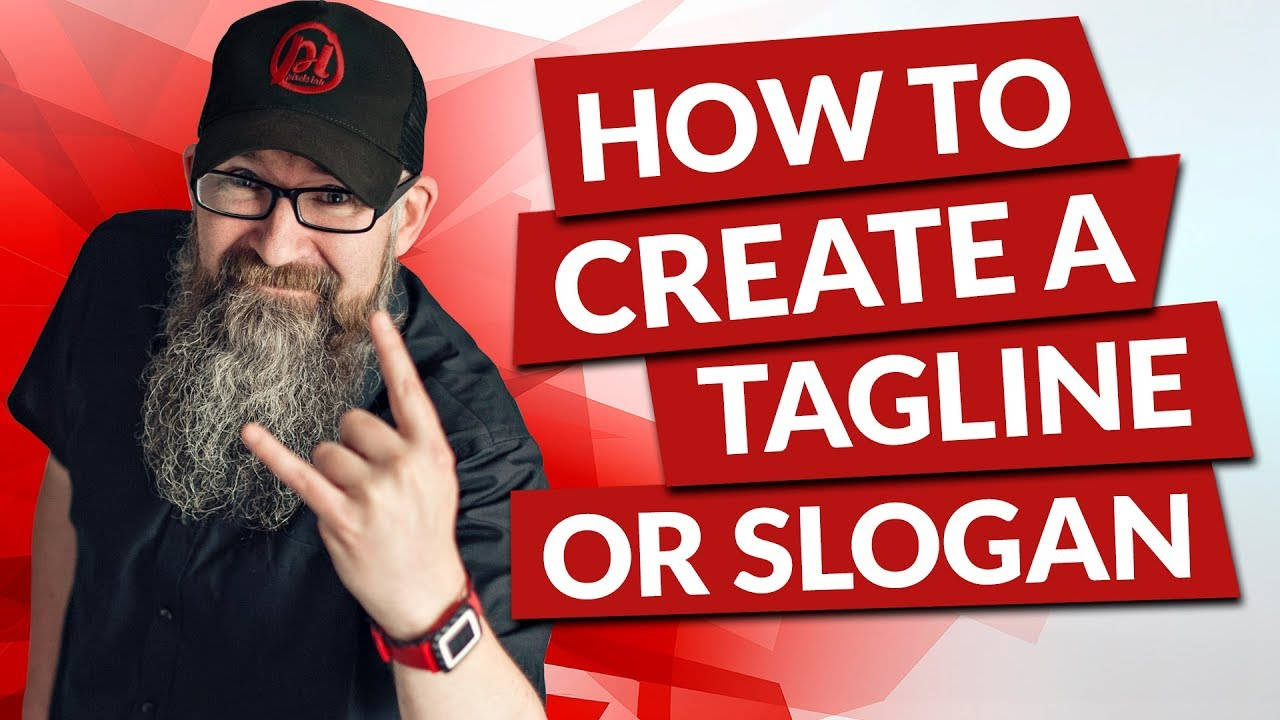 How to create a tagline or slogan