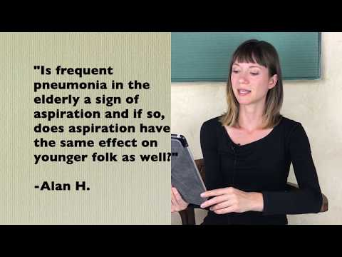 Is Frequent Pneumonia a Sign of Aspiration?