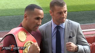 James DeGale vs. Lucian Bute Full Video-Complete Press Conference & Face off video
