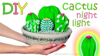 How To Make a Cactus Farm Nightlight – DIY Cacti Night Lights Out Of Paper